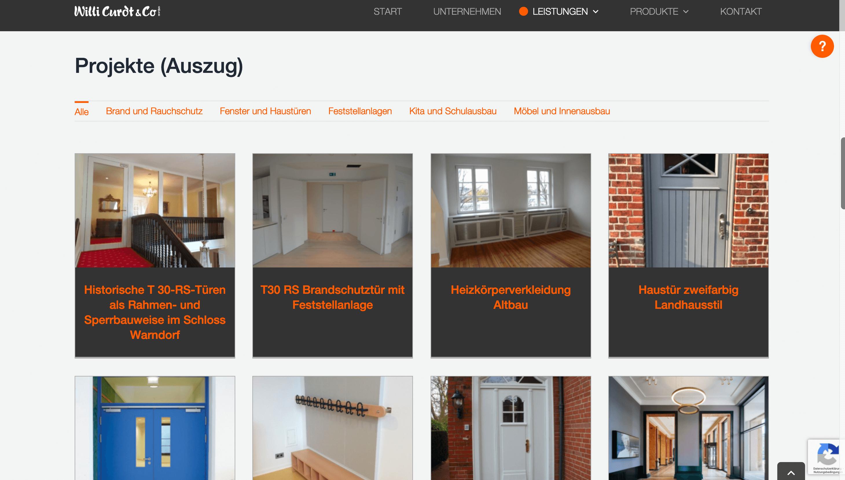 Website Projekt Willi Curdt Gmbh & Co